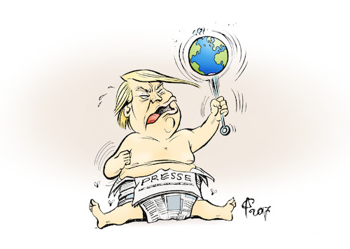 Cartoon: Trotzkopf (medium) by Paolo Calleri tagged usa,welt,praesident,us,vereinigte,staaten,donald,trump,medien,presse,journalismus,duennhaeutig,fake,news,alternative,fakten,postfaktisch,populismus,populisten,luegen,kritik,amt,karikatur,cartoon,paolo,calleri,usa,welt,praesident,us,vereinigte,staaten,donald,trump,medien,presse,journalismus,duennhaeutig,fake,news,alternative,fakten,postfaktisch,populismus,populisten,luegen,kritik,amt,karikatur,cartoon,paolo,calleri