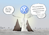 Cartoon: Elfenbeinturm (small) by Paolo Calleri tagged deutschland,industrie,wirtschaft,automobil,automobilindustrie,volkswagen,herbert,diess,chef,konzern,konzernumbau,umbau,diesel,dieselskandal,software,abgase,karikatur,cartoon,paolo,calleri