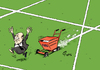 Cartoon: Spur (small) by Paolo Calleri tagged usa,schweiz,zuerich,fifa,fussball,sport,weltfussballverband,verband,praesident,sepp,blatter,ermittlungen,korruption,spitzenfunktionaere,festnahmen,praesidentschaftswahl,karikatur,cartoon,paolo,calleri