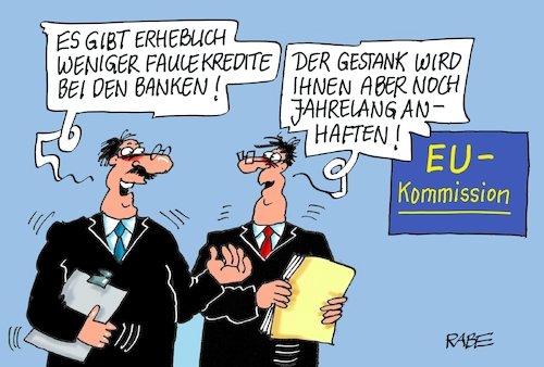 Cartoon: Faule Kredite (medium) by RABE tagged europawahl,mai,brüssel,eu,rabe,ralf,böhme,cartoon,karikatur,pressezeichnung,farbcartoon,tagescartoon,kreistag,kreistagswahlen,wahlsonntag,sitze,kandidaten,wahlcoaching,wähler,wählercoaching,coach,banken,kredite,faul,bad,bank,griechenland,zypern,kreditvergabe,euros,kommission,europawahl,mai,brüssel,eu,rabe,ralf,böhme,cartoon,karikatur,pressezeichnung,farbcartoon,tagescartoon,kreistag,kreistagswahlen,wahlsonntag,sitze,kandidaten,wahlcoaching,wähler,wählercoaching,coach,banken,kredite,faul,bad,bank,griechenland,zypern,kreditvergabe,euros,kommission