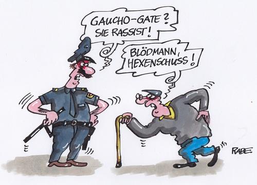 Gaucho Gate von RABE - Sport Cartoon - TOONPOOL