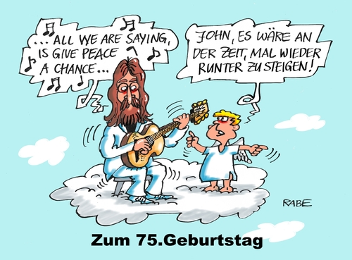 Cartoon: Lennon Geburtstag (medium) by RABE tagged john,lennon,yoko,ono,beatles,love,peace,rabe,ralf,böhme,cartoon,karikatur,pressezeichnung,farbcartoon,tagescartoon,krieg,frieden,chance,imagine,liverpool,john,lennon,yoko,ono,beatles,love,peace,rabe,ralf,böhme,cartoon,karikatur,pressezeichnung,farbcartoon,tagescartoon,krieg,frieden,chance,imagine,liverpool