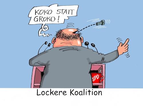 Locker vom Hocker von RABE | Politik Cartoon | TOONPOOL