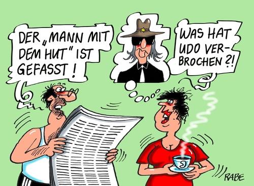 Mann Mit Hut Von Rabe Politik Cartoon Toonpool