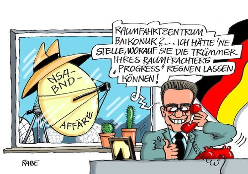 Cartoon: Schnüffler (medium) by RABE tagged schnüffler,lothar,demaiziere,innenminister,cdu,nsa,bnd,affäre,abhörskandal,usa,deutschland,spionage,internet,untersuchungsausschuss,rabe,ralf,böhme,cartoon,karikatur,pressezeichnung,farbcartoon,tagescartoon,abhörstation,schlapphut,raumtransporter,progress,trümmer,russland,baikonour,raumfahrtzentrum,schnüffler,lothar,demaiziere,innenminister,cdu,nsa,bnd,affäre,abhörskandal,usa,deutschland,spionage,internet,untersuchungsausschuss,rabe,ralf,böhme,cartoon,karikatur,pressezeichnung,farbcartoon,tagescartoon,abhörstation,schlapphut,raumtransporter,progress,trümmer,russland,baikonour,raumfahrtzentrum