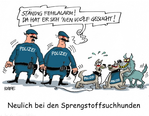 Cartoon: Sprengstoffhund (medium) by RABE tagged sprengstoff,sprengstoffspürhund,sprengstoffexperte,sprengstoffgürtel,sprengstoffattentat,is,islamisten,terrorwarnung,rabe,ralf,böhme,cartoon,karikatur,pressezeichnung,farbcartoon,tagescartoon,hunde,polizei,flüchtlinge,islam,sprengstoff,sprengstoffspürhund,sprengstoffexperte,sprengstoffgürtel,sprengstoffattentat,is,islamisten,terrorwarnung,rabe,ralf,böhme,cartoon,karikatur,pressezeichnung,farbcartoon,tagescartoon,hunde,polizei,flüchtlinge,islam