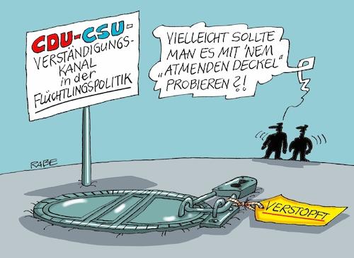 Verst ndigungsprobleme von rabe politik cartoon toonpool for Atmender deckel
