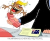 Cartoon: Beutelteufel (small) by RABE tagged trump,präsident,usa,rede,bild,times,strafzoll,autobauer,bmw,rabe,ralf,böhme,cartoon,karikatur,pressezeichnung,farbcartoon,tagescartoon,australien,telefonat,abbruch,beutelteufel,tasmanien