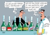 Cartoon: Champagnerlaune (small) by RABE tagged champagner,forscher,sekt,sektlaune,bundestagswahl,wähler,rabe,ralf,böhme,cartoon,karikatur,pressezeichnung,tagescartoon,korken,wahlergebnis