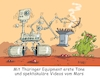 Cartoon: Marsmission Possible (small) by RABE tagged mars,marsmission,nasa,usa,marssonde,equipment,rabe,ralf,böhme,cartoon,karikatur,farbcartoon,pressezeichnung,tagescartoon,marsoberfläche,landung,marsmobil,thüringen,jena,bratwurst,bratwurstrost,marsbewohner,marsmännchen,perseverance