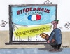 Cartoon: Reformhaus (small) by RABE tagged frankreich,paris,hollande,reform,reformhaus,regierung,regierungsumbildung,neustrukturierung,rabe,ralf,böhme,cartoon,karikatur,pressezeichnung,farbcartoon,tagescartoon,dekoration,umdekoration,schaufenster,schaufenstergestaltung,baquette,schaufensterscheibe