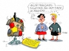 Cartoon: Thesenpapier (small) by RABE tagged innenminister,de,maiziere,thesen,thesenpapier,integration,leitkultur,rabe,ralf,böhme,cartoon,karikatur,pressezeichnung,farbcartoon,tagescartoon,mode,haute,couture,frühjahr,frühjahrskollektion,kleiderständet,schaufensterpuppe,flicken,flickenteppich,punktekatalog,zehn,einwanderungspolitik,einwanderungsgesetz