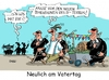 Cartoon: Vatertag (small) by RABE tagged vatertag,männertag,himmelfahrt,bollerwagen,rabe,ralf,böhme,cartoon,karikatur,pressezeichnung,farbcartoon,tagescartoon,is,terroristen,anschläge,dimension,maasen,bodyguard