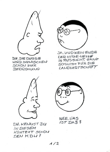 Cartoon: Klöckners Julia (medium) by menschenskindergarten tagged hitzewelle,dürre,landwirtschaft,bmel,klöckner,subventionen