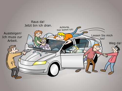 Carsharing Von Cloudscience Wirtschaft Cartoon Toonpool