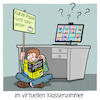 Cartoon: im virtuelle Klassenzimmer (small) by CloudScience tagged schule lehrer digitalisierung bildung klassenzimmer fernunterricht homeschooling digitaler unterricht für dummies lernen twitterlehrerzimmer internet corona homeoffice remote schüler videokonferenz digital tech technik technologie it portal