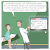 Cartoon: KI Medizin (small) by CloudScience tagged ehealth,ki,medizin,gesundheit,kuenstliche,intelligenz,algorithmus,arzt,doktor,behandlungszimmer,behandlung,diagnose,arztzimmer,deep,learning,patientenakte,handschrift,sauklaue,arztschrift,digitalisierung,digital,it,tech,technologie,technik,monitoring,handlungsempfehlung,gesundheitssystem,daten,cloud,big,data,ai,innovation,disruption,digitale,transformation