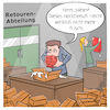 Cartoon: Retourenabteilung (small) by CloudScience tagged retouren,retoure,retourenabteilung,logistik,ecommerce,onlinehandel,online,shoping,versand,rueckgabe,umtausch,umtauschen,it,tech,technik,technologie,digital,retail,digitalisierung,handel,internet,internetversand,transport,umwelt,hackfleisch,hack,amazon,lieferung