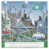 Cartoon: Smart City (small) by CloudScience tagged smart,city,iot,internet,der,dinge,vernetzung,sensoren,ki,intelligenz,daten,cloud,big,data,digitalisierung,digital,zukunft,stadt,netzwerk,stockfoto,clipart,it,technik,tech,technologie,disruption,connection,verbindungen,knoten,kanten,taxidrohne,drohne,drohnen,selbstfahrendes,auto,autonom,escooter,5g,cartoon,karikatur,illustration,humor,verwaltung,leben,gesellschaft