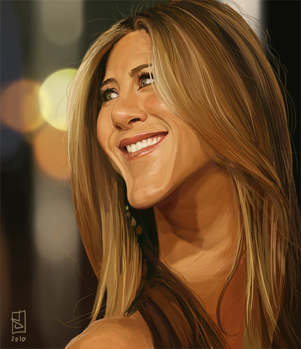 Cartoon: Jennifer Aniston (medium) by sting-one tagged jennifer