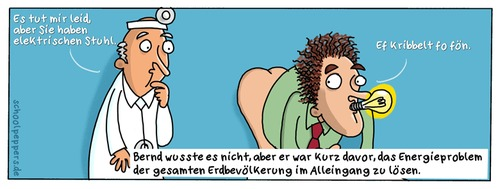 Cartoon: Schoolpeppers 207 (medium) by Schoolpeppers tagged artz,proktologe,krankheit,patient,umweltschutz,energie