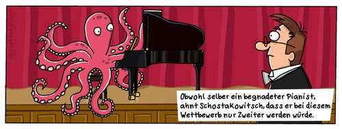 Cartoon: Schoolpeppers 26 (medium) by Schoolpeppers tagged musik,tiere,tintenfisch