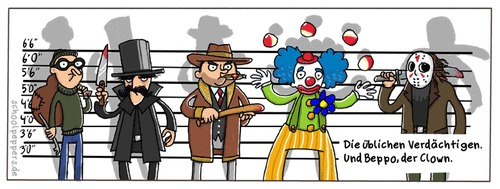 Cartoon: Schoolpeppers 6 (medium) by Schoolpeppers tagged beppo,clown,filmtitel