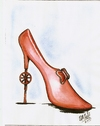 Cartoon: zapato de dama (small) by DANIEL EDUARDO VARELA tagged damas