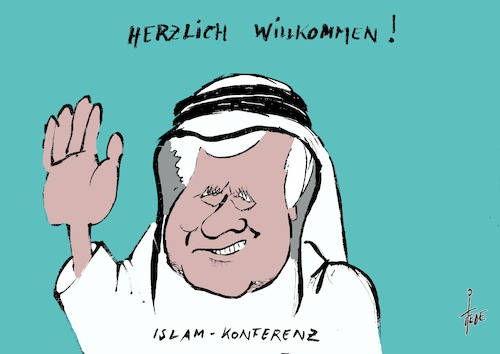 Cartoon: Islamkonferenz (medium) by tiede tagged islamkonferenz,seehofer,muslime,tiede,cartoon,karikatur,islamkonferenz,seehofer,muslime,tiede,cartoon,karikatur