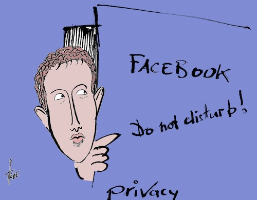 Cartoon: Privacy (medium) by tiede tagged zuckerberg,facebook,privacy,cambridge,analytics,tiede,cartoon,karikatur,zuckerberg,facebook,privacy,cambridge,analytics,tiede,cartoon,karikatur