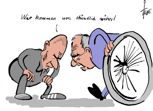 Cartoon: Varoufakis - Schäuble (medium) by tiede tagged varoufakis,schäuble,eu,euro,griechenland,tsipras,grexit,varoufakis,schäuble,eu,euro,griechenland,tsipras,grexit