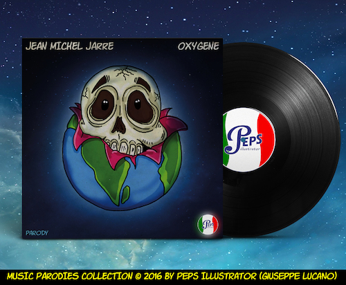 Cartoon: Jean Michel Jarre - Oxygene (medium) by Peps tagged jean,michel,jarre,oxygene