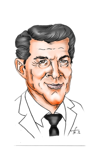 Cartoon: Dean Martin (medium) by Thomas Vetter tagged dean,martin