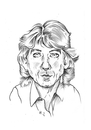 Cartoon: George Harrison zum 15. Todestag (small) by Thomas Vetter tagged george,harrison,todestag
