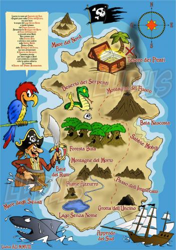 Pirates Treasure Map von Ludus | Men & Kultur Cartoon | TOONPOOL on