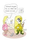 Cartoon: Angeln virtuell (small) by BuBE tagged angeln,freizeit,virtuell,computer,angelspiel,ehepaar