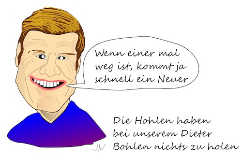 Cartoon: Dieter Bohlen (medium) by Jochen N tagged daniel,küblböck,dieter,bohlen,modern,talking,songwriter,musiker,supertalent,dsds,castingshow,aida,kreuzfahrt,schiff,sprung,selbstmord,suizid