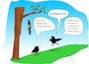 Cartoon: Todesfall (small) by Jochen N tagged tod,tot,suizid,selbstmord,baum,vogel,vögel,krähe,rabe,bestattung,beerdigung,friedhof,seebestattung,strick,fall