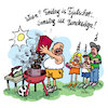 Cartoon: samstag for bundesliga (small) by REIBEL tagged klimawandel,kohle,grill,fridayforfuture,greta,umwelt,aktivist