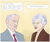 Cartoon: Dialogue May Corbyn (small) by Barthold tagged brexit,united,kingdom,great,britain,theresa,may,jeremy,corbyn,italy,matteo,salvini,luigi,di,maio,giuseppe,conte,populism,will,people