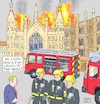 Cartoon: Johnson Chief of Fire Brigades (small) by Barthold tagged boris,johnson,prorogation,parliament,parliamentary,work,coup,exclusion,wesminster,hall,firefighter,fire,truck,engine,brexit