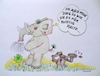 Cartoon: elefantenphilosophie (small) by katzen-gretelein tagged elefant,philosophie