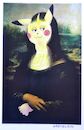 Cartoon: pokolisa die einmalige (small) by katzen-gretelein tagged pokemon,monalisa,kunst,museum,malerei
