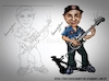 Cartoon: Caricature Tom Morello (small) by FernandoOliveira tagged caricaturas