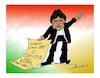 Cartoon: Evo Morales (small) by vasilis dagres tagged morales,bolivia,usa,market