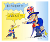 Cartoon: Great Britain brexit (small) by vasilis dagres tagged teresa,mey