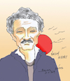Cartoon: NAZIM HIKMET (small) by vasilis dagres tagged poet