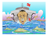 Cartoon: TURKEY ERTOGAN AIGIO PELAGOS (small) by vasilis dagres tagged turkey,ertogan,aigio,pelagos,greece,war,activities