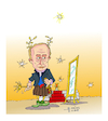 Cartoon: Vladimir Putin (small) by vasilis dagres tagged putin,russia