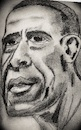 Cartoon: Barack Obama (small) by higi tagged obama,barack,president,usa,drawing,caricature